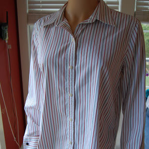 {Lauren Ralph Lauren} Striped Button Down Shirt